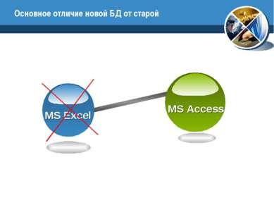 Основное отличие новой БД от старой MS Access