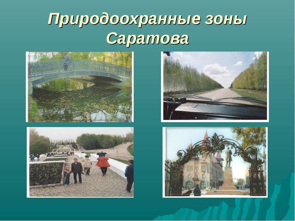 Природоохранные зоны Саратова