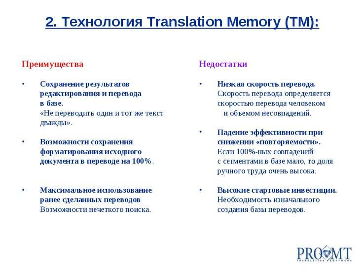 Преимущества Сохранение результатов редактирования и перевода в базе. «Не пер...