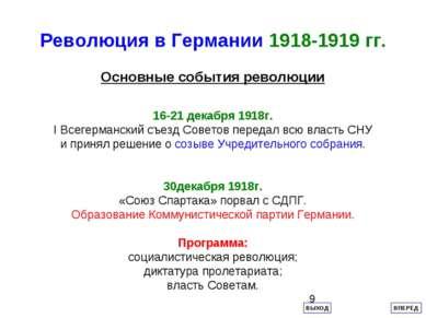 Революция в Германии 1918-1919 гг. Основные события революции 16-21 декабря 1...