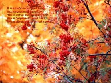 Я так люблю осенний лес, Над ним сияние небес, Что я хотел бы превратиться Ил...