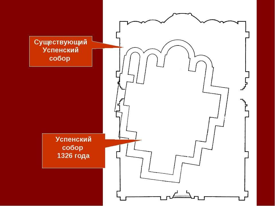 Существующий Успенский собор Успенский собор 1326 года