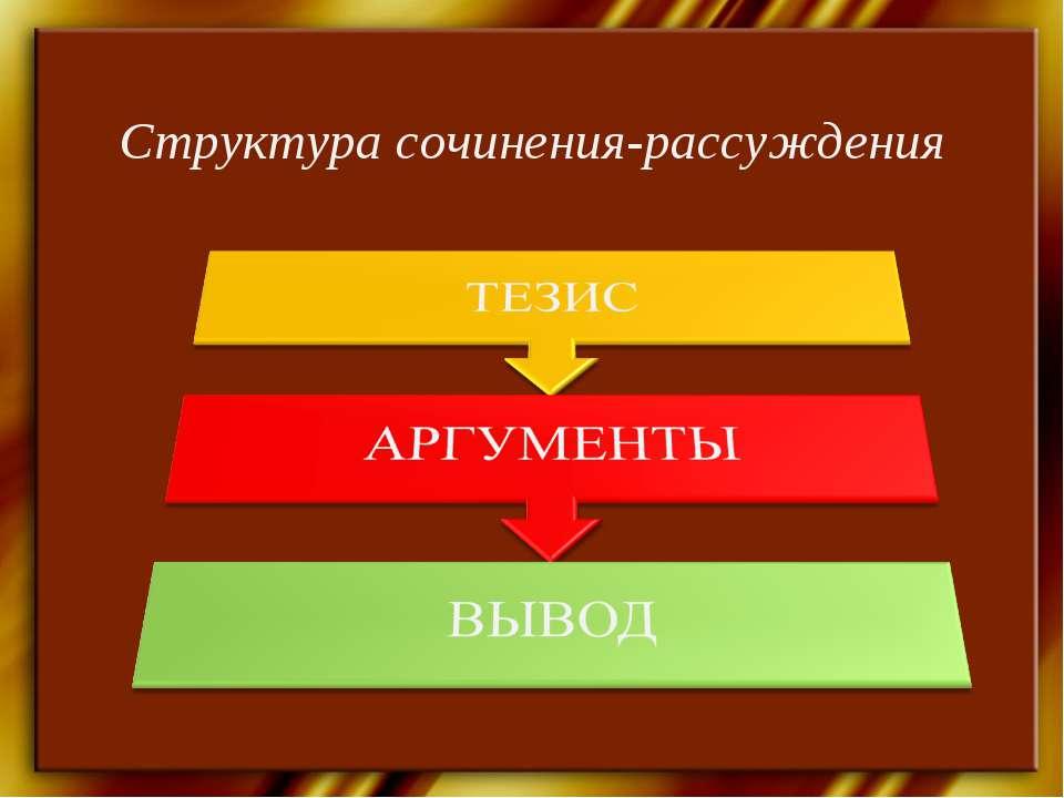 Структура сочинения-рассуждения