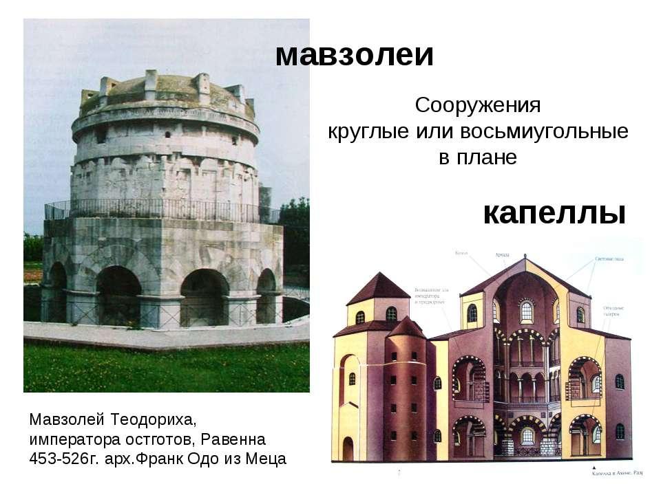 мавзолеи капеллы Сооружения круглые или восьмиугольные в плане Мавзолей Теодо...