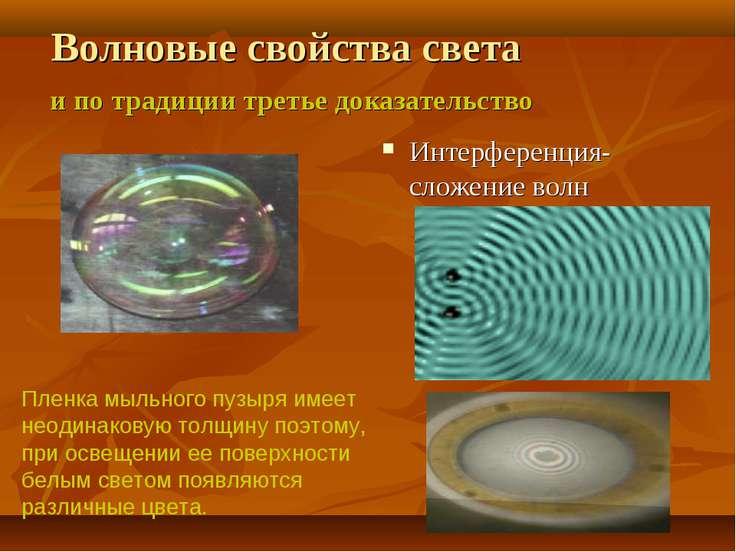 Волновые свойства света и по традиции третье доказательство Интерференция-сло...
