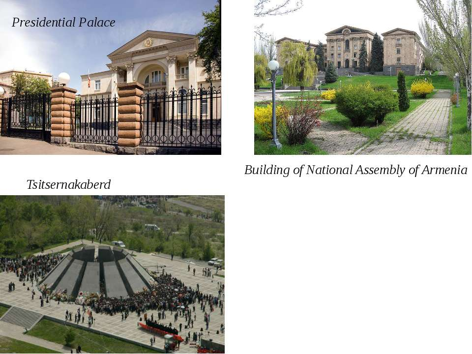 Presidential Palace Building of National Assembly of Armenia Tsitsernakaberd