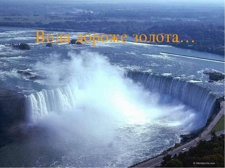 Вода дороже золота…