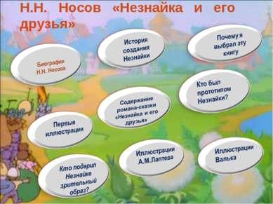 Н.Н. Носов «Незнайка и его друзья»
