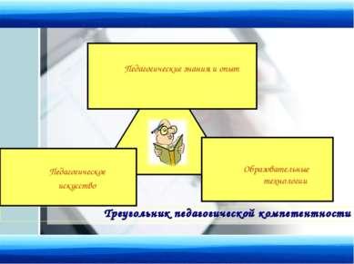 Треугольник педагогической компетентности