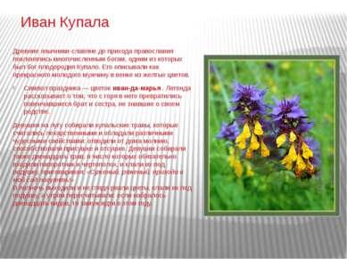 Иван Купала Древние язычники-славяне до прихода православия поклонялись много...