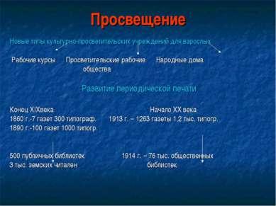 Просвещение Новые типы культурно-просветительских учреждений для взрослых Раб...