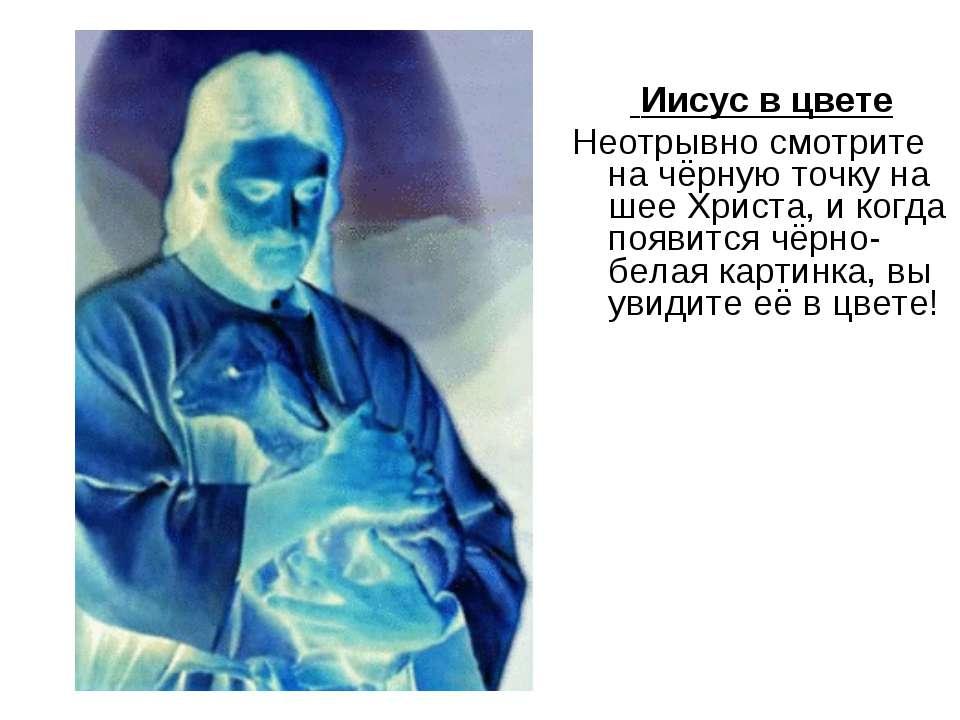 Иисус в цвете Неотрывно смотрите на чёрную точку на шее Христа, и когда появи...