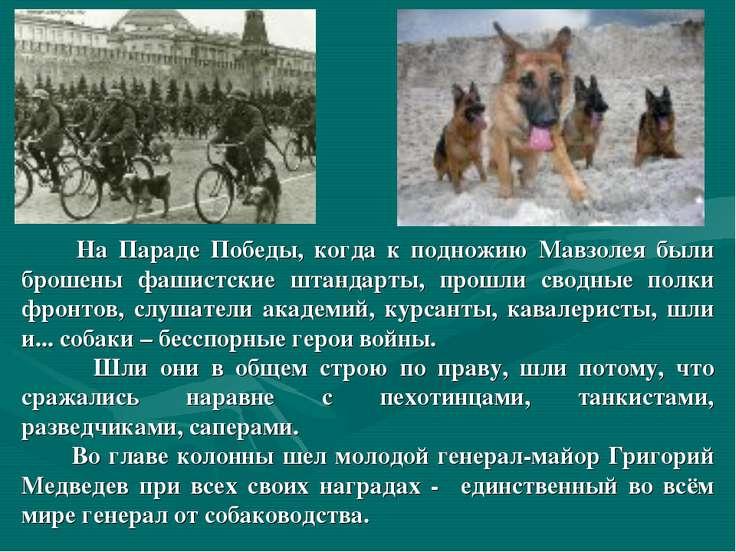 На Параде Победы, когда к подножию Мавзолея были брошены фашистские штандарты...