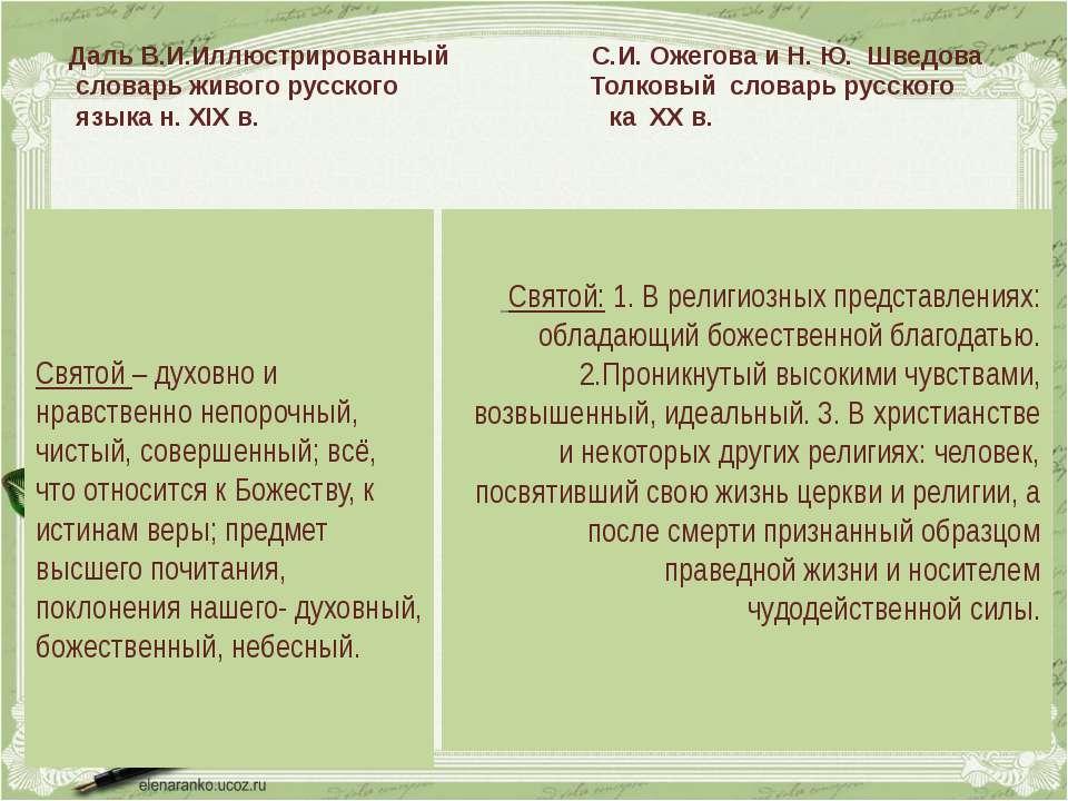 Даль В.И.Иллюстрированный С.И. Ожегова и Н. Ю. Шведова словарь живого русског...