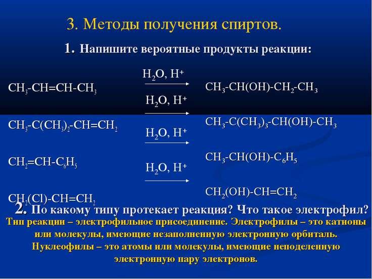 1. Напишите вероятные продукты реакции: СH3-CH=CH-CH3 CH3-C(CH3)2-CH=CH2 CH2=...