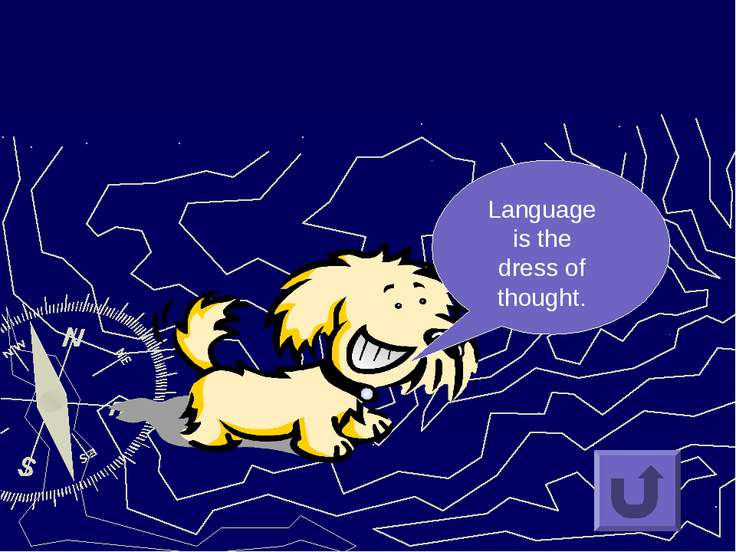 Language is the dress of thought.