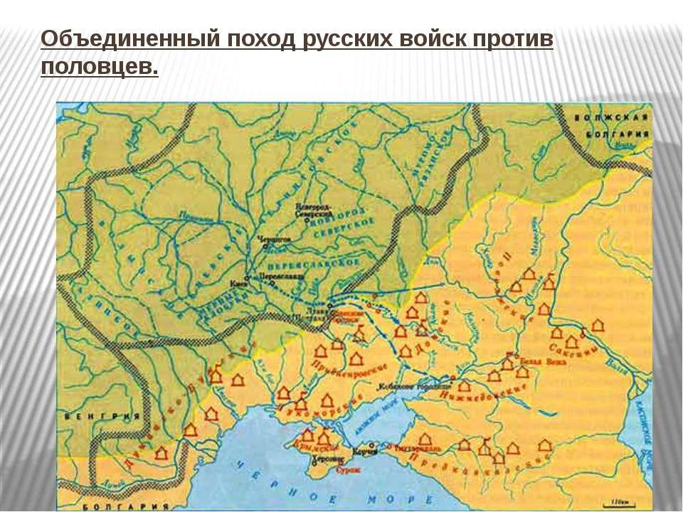 Объединенный поход русских войск против половцев.