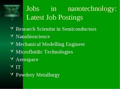 Jobs in nanotechnology: Latest Job Postings Research Scientist in Semiconduct...