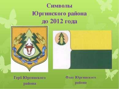 Символы Юргинского района до 2012 года Герб Юргинского района Флаг Юргинского...