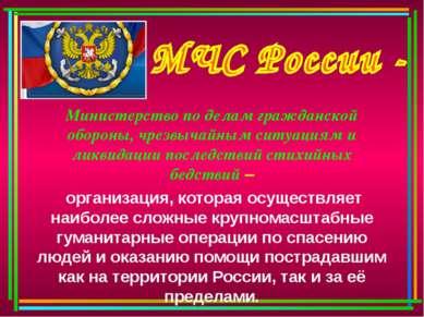 Министерство по делам гражданской обороны, чрезвычайным ситуациям и ликвидаци...
