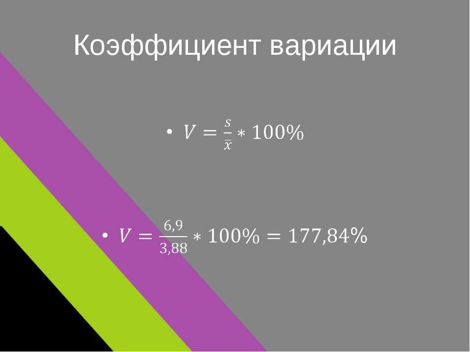 Коэффициент вариации