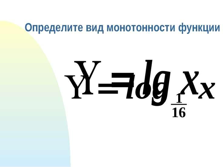 Определите вид монотонности функции