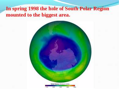 In spring 1998 the hole of South Polar Region mounted to the biggest area.