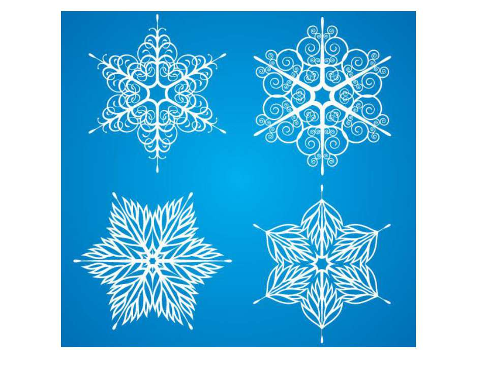 Snowflake vector drawing