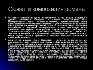 Сюжет и композиция романа Сюжетно-тематический центр представляет собой общую...