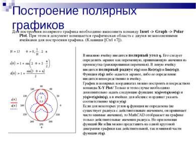 Построение полярных графиков Для построения полярного графика необходимо выпо...