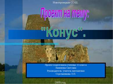 Проект подготовила ученица 11 класса Ламонова Светлана Руководитель: учитель ...