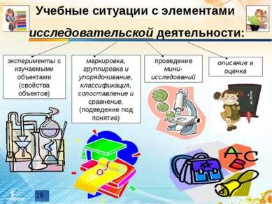 Учебные ситуации с элементами исследовательской деятельности: эксперименты с ...