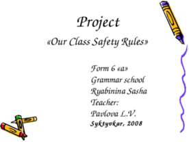 Our Class Safety Rules