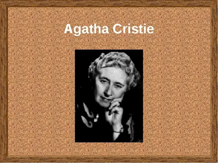Agatha Cristie