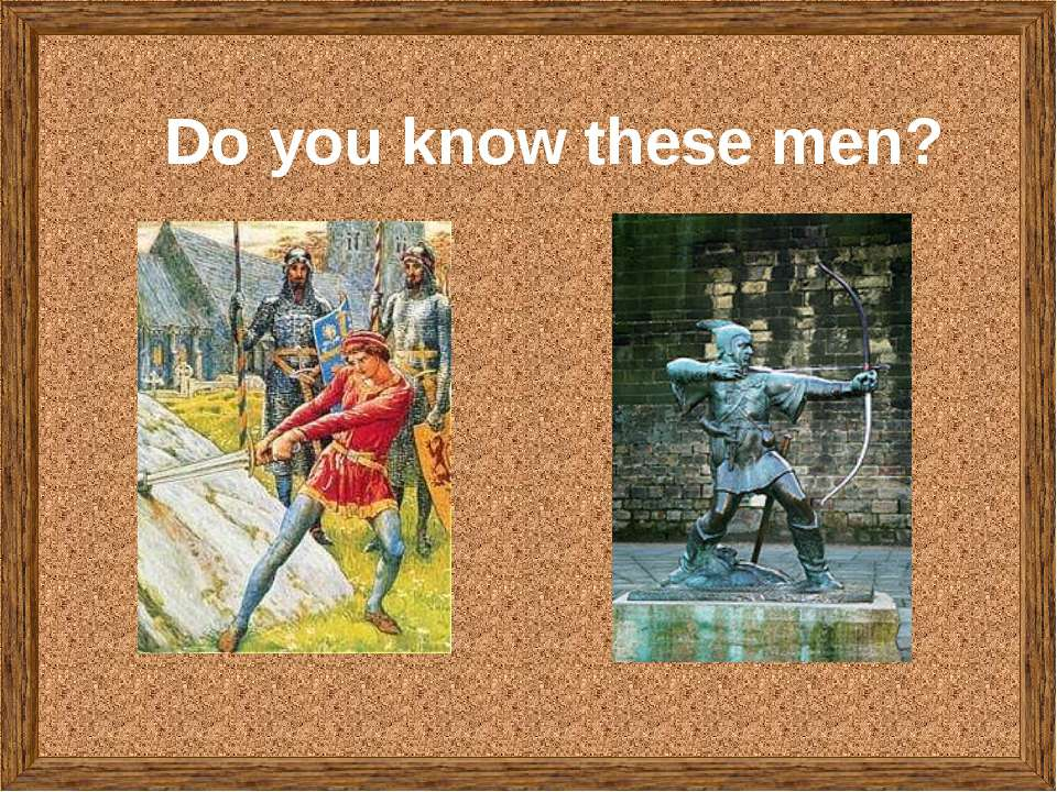 Do you know these men?
