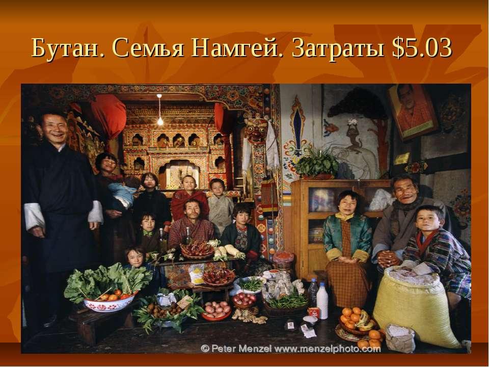 Бутан. Семья Намгей. Затраты $5.03