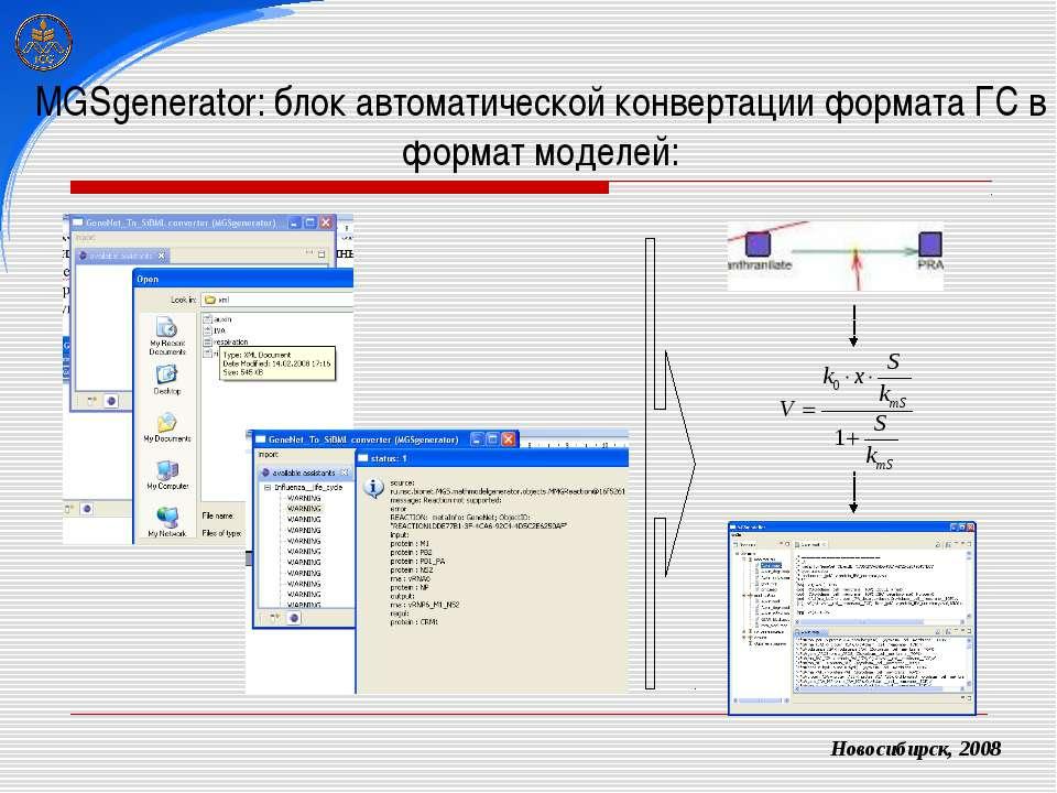 MGSgenerator: блок автоматической конвертации формата ГС в формат моделей: Но...