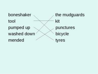 boneshaker the mudguards tool kit pumped up punctures washed down bicycle men...