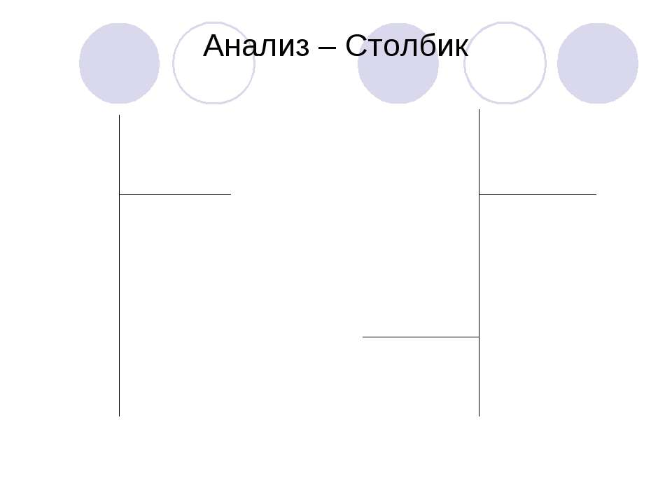 Анализ – Столбик