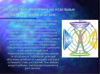Воздействие излучения на отдельные органы и организм в целом В структуре орга...