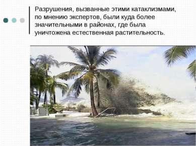 Разрушения, вызванные этими катаклизмами, по мнению экспертов, были куда боле...