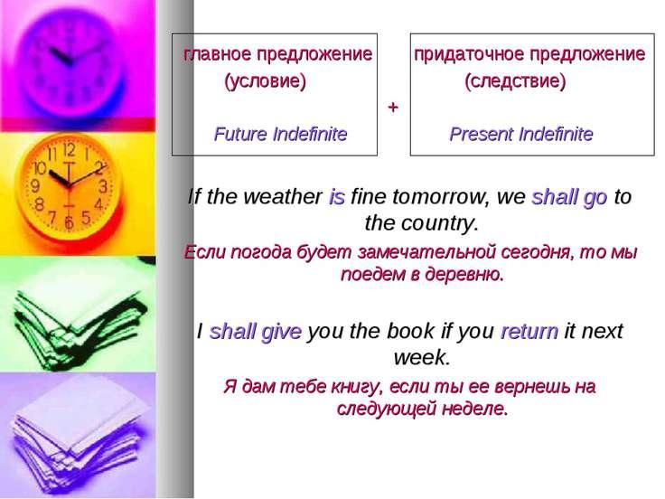 главное предложение придаточное предложение (условие) (следствие) + Future In...