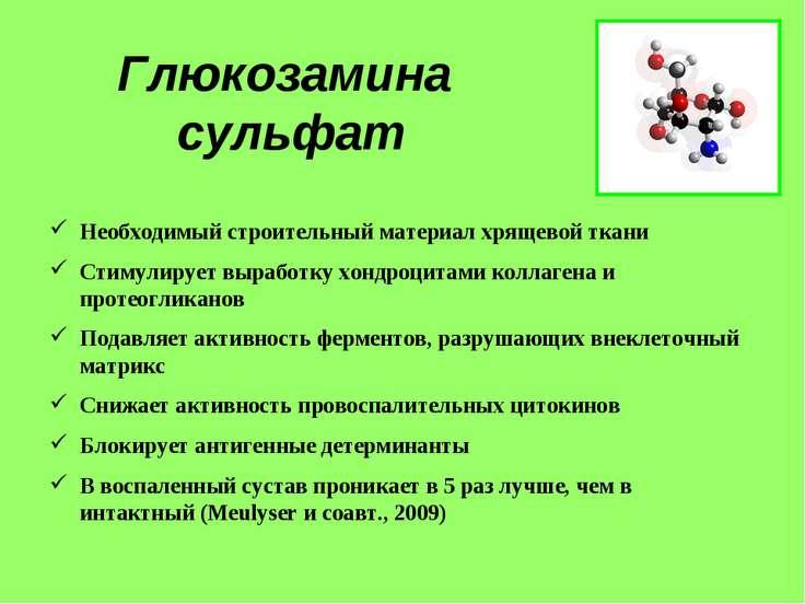 Глюкозамина сульфат Необходимый строительный материал хрящевой ткани Стимулир...