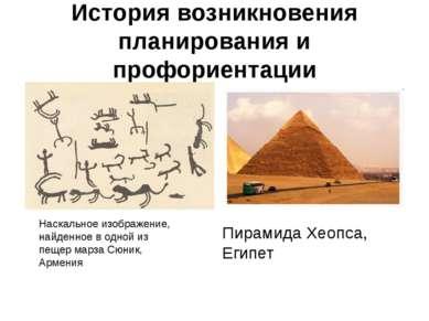 История возникновения планирования и профориентации Пирамида Хеопса, Египет Н...