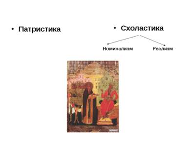 Патристика Схоластика Номинализм Реализм