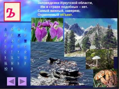 Ъ Заповедники Иркутской области, Им в стране подобных – нет. Самый важный, за...