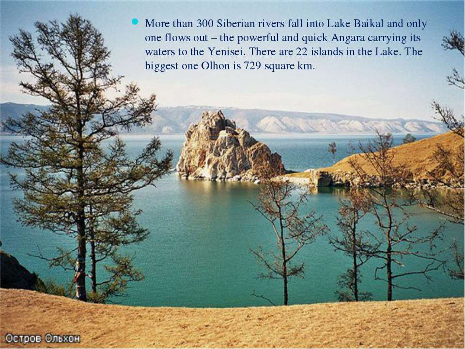 More than 300 Siberian rivers fall into Lake Baikal and only one flows out – ...