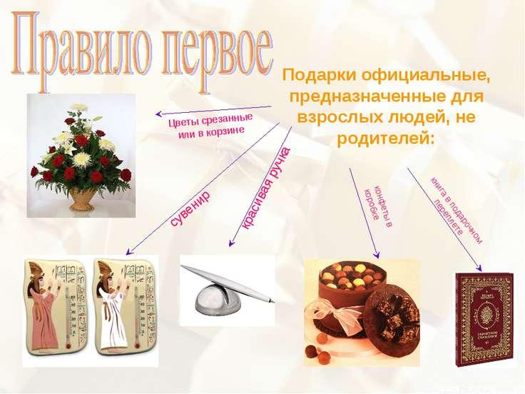 Подарки официальные, предназначенные для взрослых людей, не родителей: Цветы ...