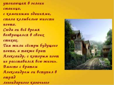 Каменская, большая, утопающая в зелени станица, с каменными зданиями, стала к...