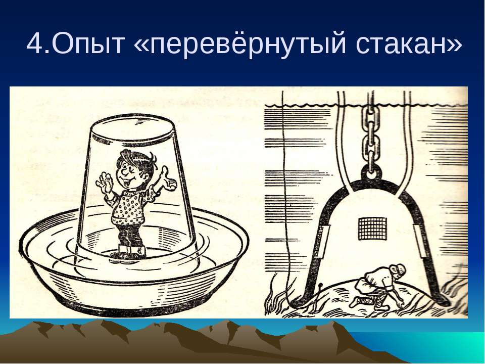 4.Опыт «перевёрнутый стакан»